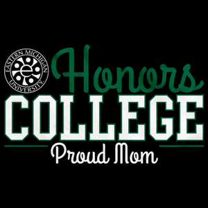 Proud Mom, Green and White Ink