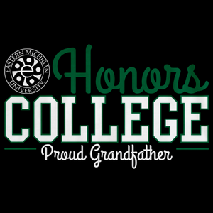 Proud Grandfather, Green and White Ink