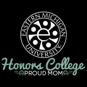 Proud Mom, White Ink Honors Swirl